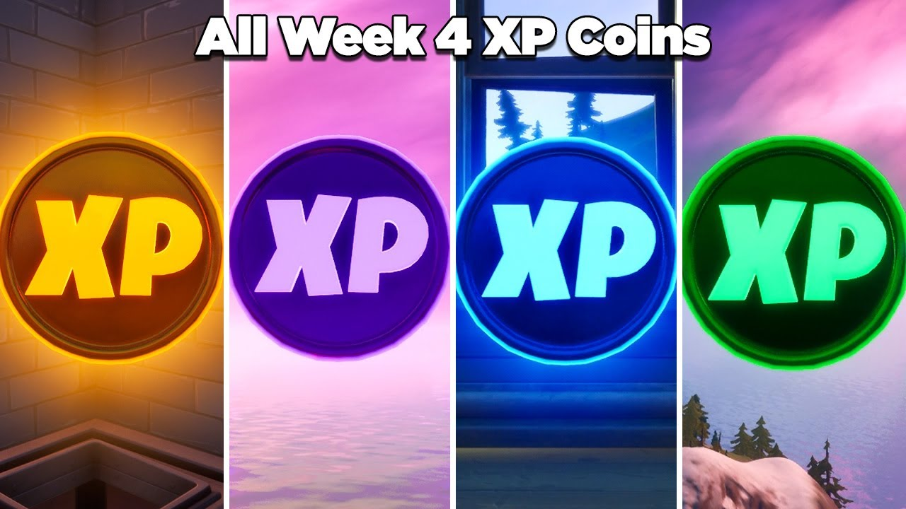 Fortnite All XP Coins Location Guide WEEK 4 -  Chapter 2 Season 4