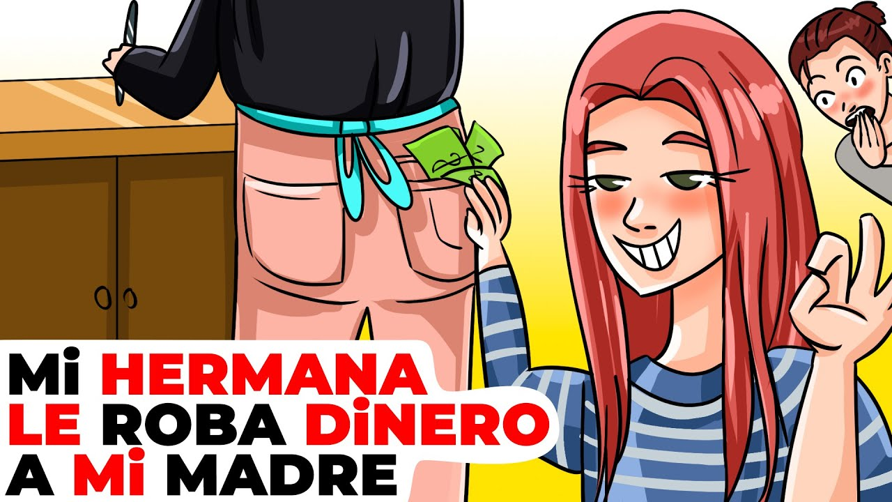 Mi hermana menor le robaba dinero a nuestra madre | Historia animada