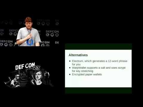 DEF CON 23 - Ryan Castellucci - Cracking CryptoCurrency Brainwallets