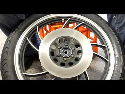 Cleaning Brake Discs / Rotors Motorcycle XJ650 Yamaha