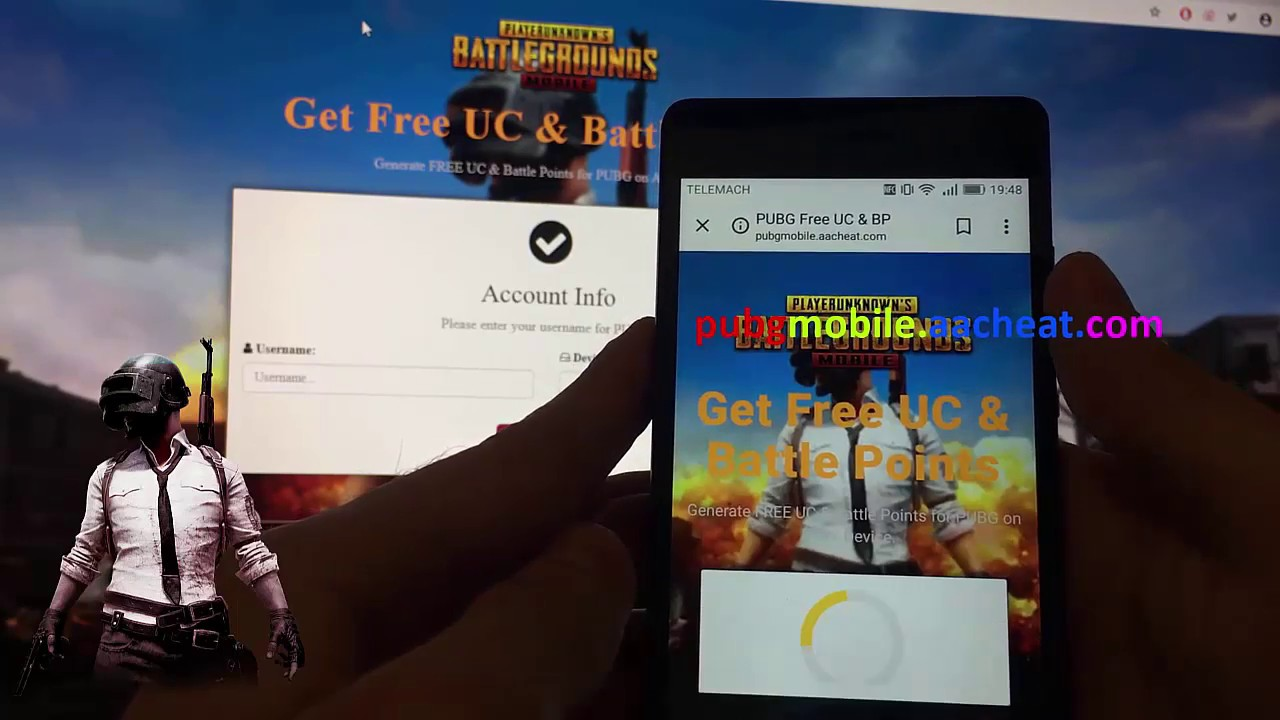 Generate free uc and battle points for pubg on any device