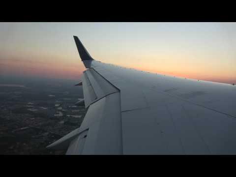 "[4K]Sunset landing Orlando Delta Airlines 2888 B757-200 seat 33A(25'26"")"