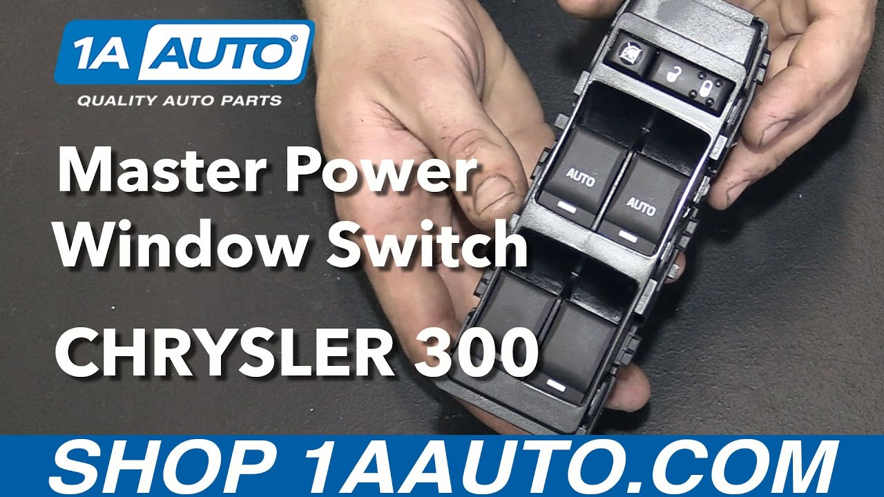 how to install replace front master power window switch 2006 10 chrysler 300 youtube [ 1280 x 720 Pixel ]