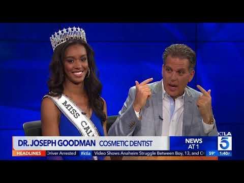 KTLA Oscar's with Miss California 2017 and Dr. Joseph Goodman