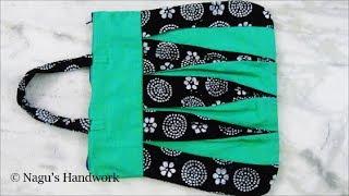 handbag cutting and stitching in tamil/Easy handmade bag/Lunch bag/How to make handbag at home