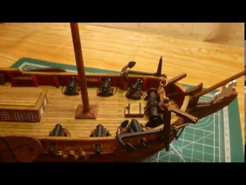 видео: Голландская яхта d'orо. Сборка модели. Часть 9.