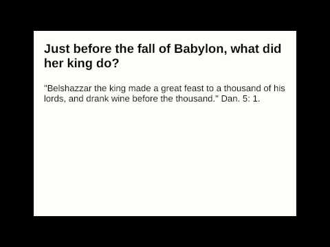 Just before the fall of Babylon, what did her king do?
