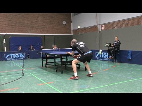 TT-VL (1-1) Senioren Meister Manfred Nieswand vs Jakob Eberhardt | Tischtennis 28.01.2017