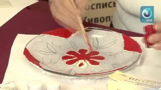 Роспись по стеклу. Тарелка в технике Витраж..flv(, 2012-04-07T20:45:42.000Z)
