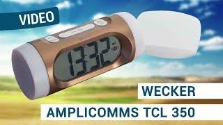 Produktvideo zu Funkwecker mit Vibrationskissen amplicomms TCL 350