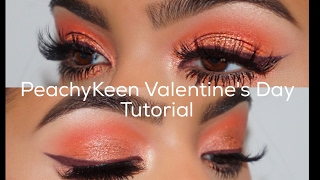 Peachy V Day Tutorial || Kylie Cosmetics Royal Peach Palette