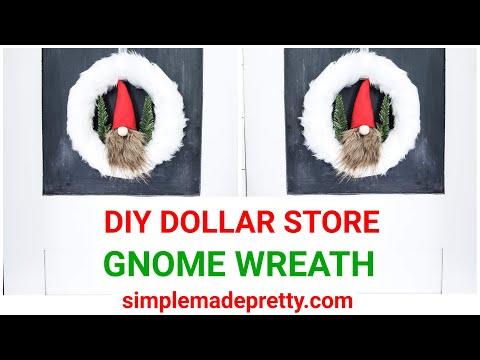 DIY Dollar Store GNOME Wreath - DIY Gnome, Dollar Tree Gnome DIY, Dollar Store Gnome