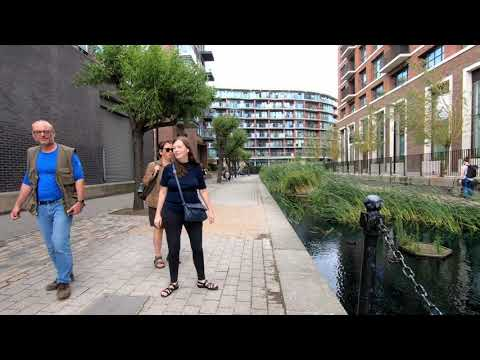 LONDON Walk Tour ALBION CHANNEL From CANADA Water To THAMES Path