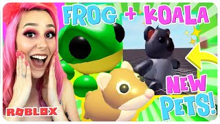 *NEW PETS*  KOALA + FROG PET IN ADOPT ME! New Aussie Egg Updates In Roblox Adopt Me!