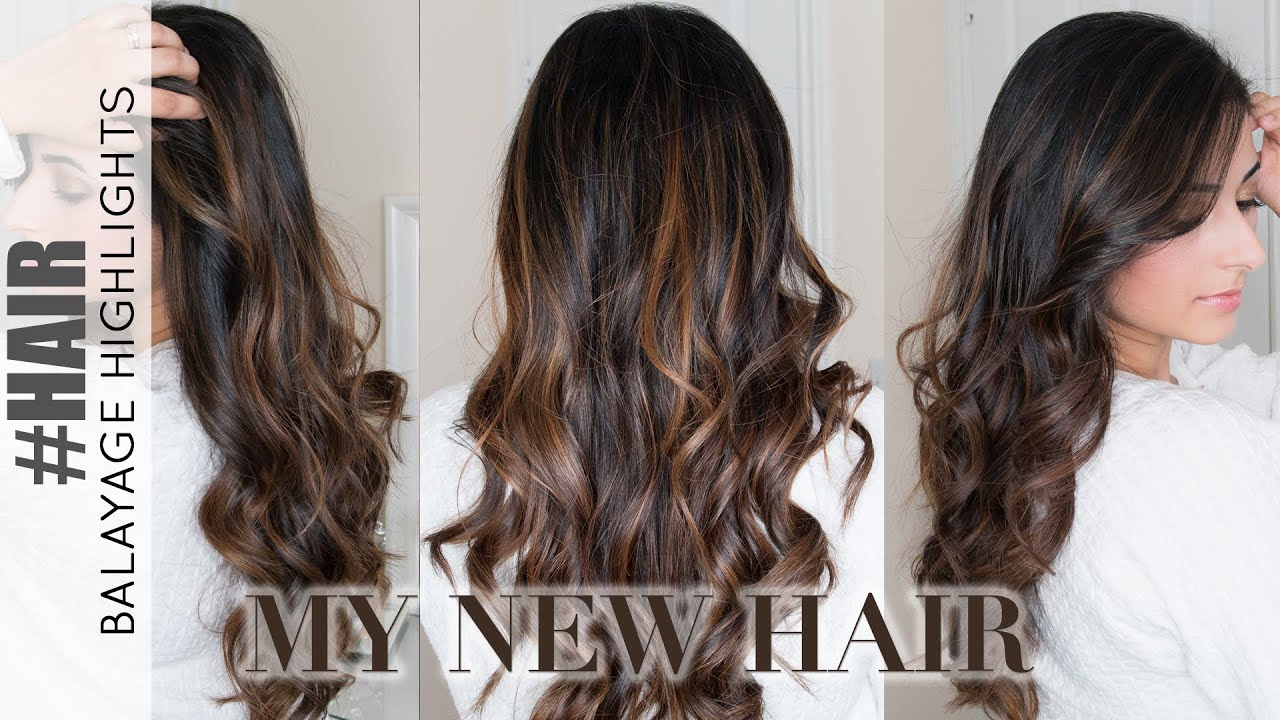 Balayage Highlights On Dark Hair My New Hair Colour 2016