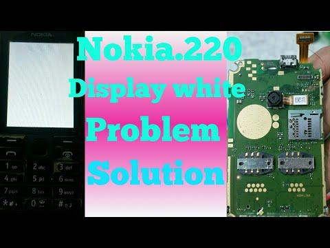 Nokia 220.rm969..Display white problem solution 100% warking