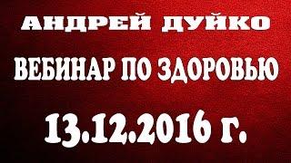 Вебинар Андрея Дуйко на тему здоровья от 13.12.2016 года