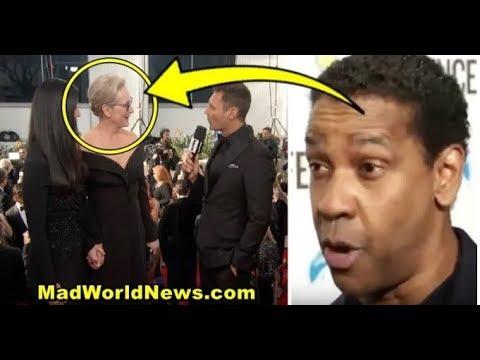 Hollywood Liberals Trash Trump At Golden Globes, So Denzel Washington Sets Them Straight