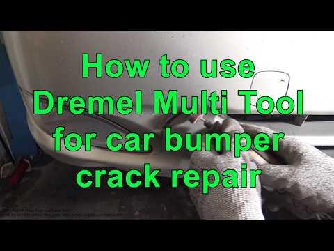 How to use Dremel Multi Tool for car bumper crack repair