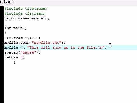 C++ Tutorial - 23 - Writing on Files