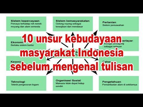 10 unsur kebudayaan masyarakat Indonesia sebelum mengenal tulisan