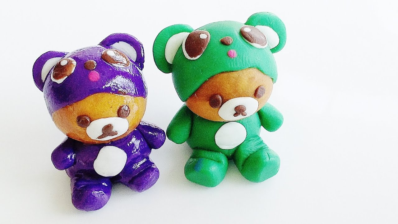 Marvelous Clay Craft Ideas For Kids Part - 7: Polymer Clay Tutorial: Rilakkuma Bear Polymer Clay Charms (Kids Crafts) -  YouTube
