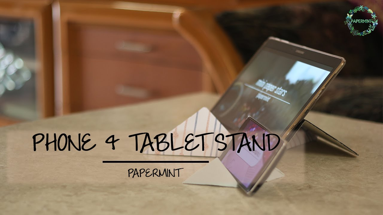 How To Make Paper Mobile Phone Tablet Stand Diy