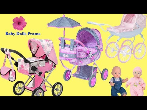 3 Dolls Prams And Baby Born And Baby Annabell Little