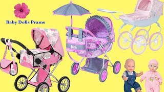 3 Dolls Prams and Baby Born and Baby Annabell - Little girl Baby Sitter and Baby Dolls Pram Toys