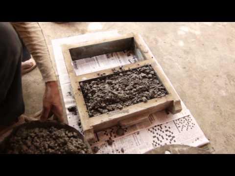 Reusing construction rubble - Low cost alternative building materials