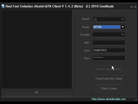 LG KP100 Read Unlock Codes