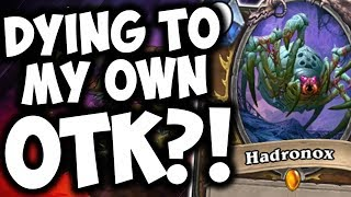 Dying To My OWN OTK?! | HADRONOX | ODD PALADIN | THE WITCHWOOD | HEARTHSTONE | DISGUISED TOAST