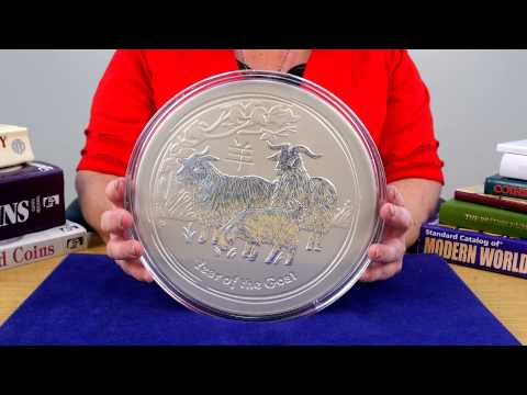 Perth Mint Year of the Goat 10 Kilo Silver Coin