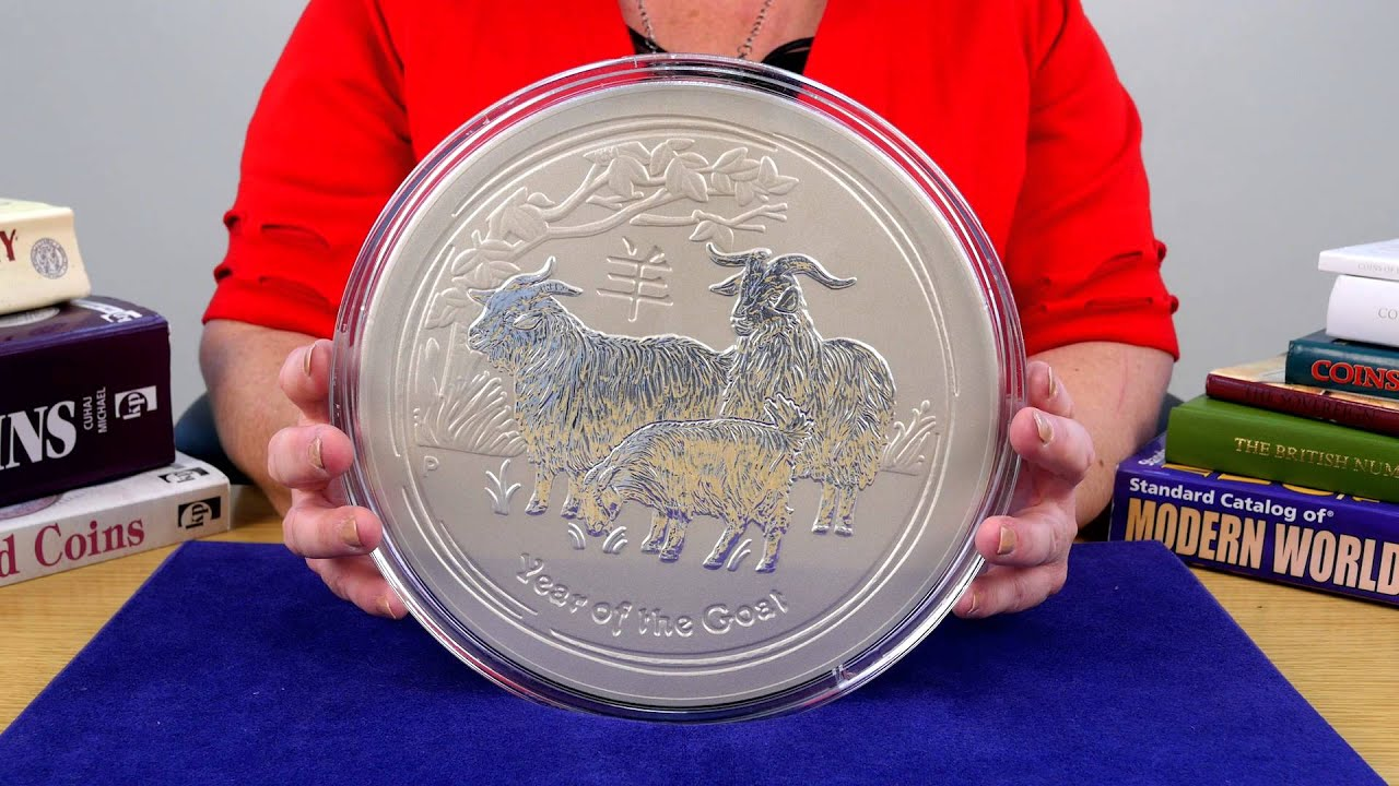 Perth Mint Year Of The Goat 10 Kilo Silver Coin Youtube
