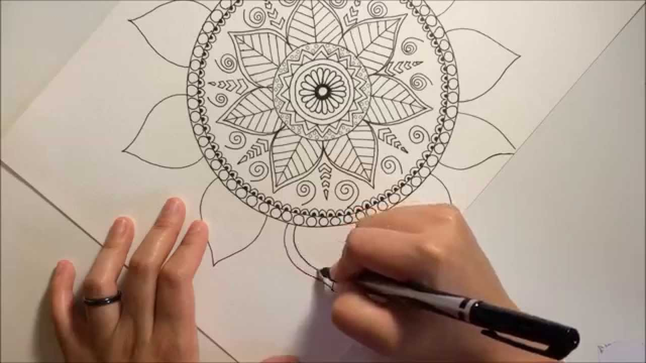 Draw a beautiful tropical inspired mandala for beginners for How to find inspiration for drawing
