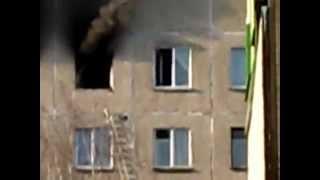 Пожар в минской многоэтажке на ул.Плеханова д.85 23.02.13