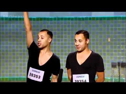 James & Nick Aragon (Ninja Twins) - SYTYCD 9 (L.A. Auditions)