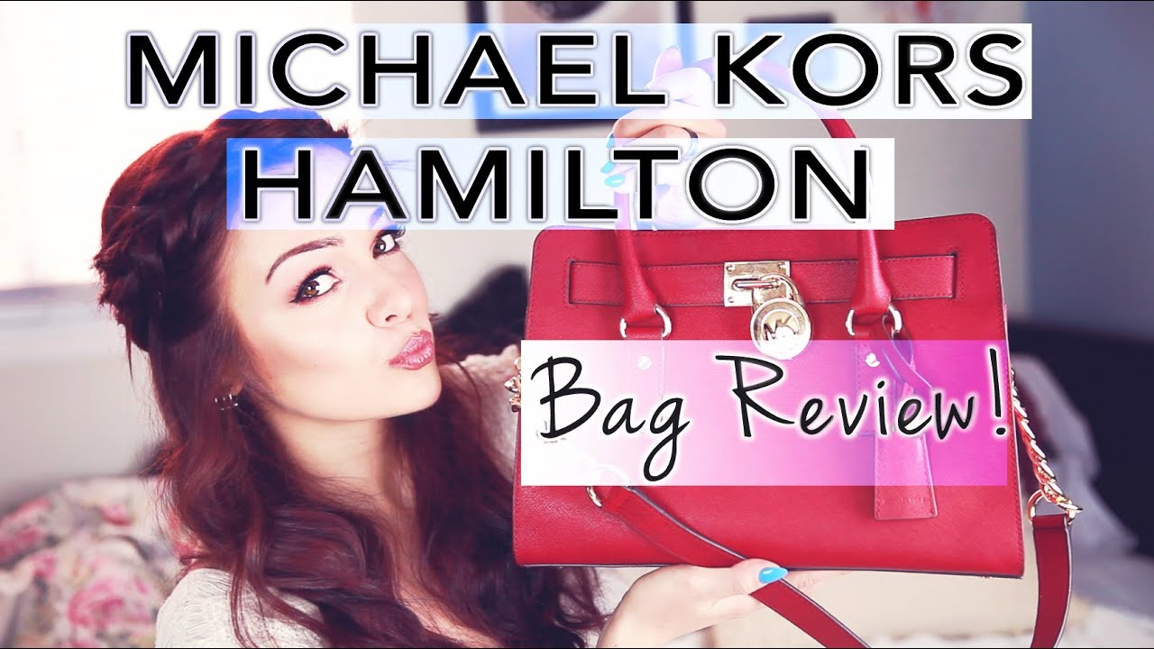 f22df6999cea Michael Kors Medium Hamilton East West Satchel Review! - YouTube