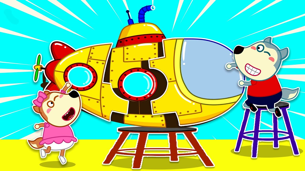Stay Home and Makes DIY Submarine with Wolfoo – Crafts for Kids   Wolfoo Family Kids Cartoon