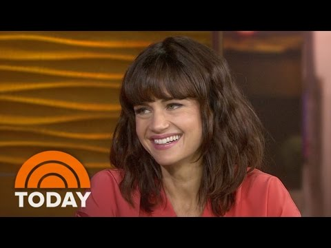 Carla Gugino Talks