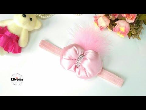 DIY Baby Bow Headband   Tutorial Baby Bow Headband ala Elysia Handmade