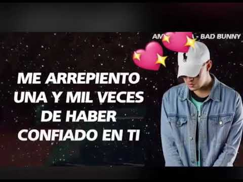 Bad Bunny Amorfoda Estado Para Whatsapp Amor Triste Youtube