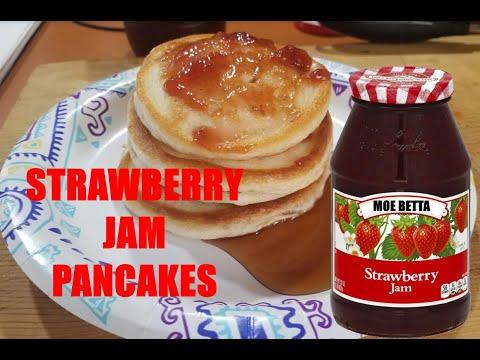 STRAWBERRY JAM PANCAKES - My Favorite Pancake Breakfast
