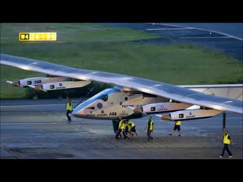 World Record As Solar Powered Plane Succeeds in Japan Hawaii Flight