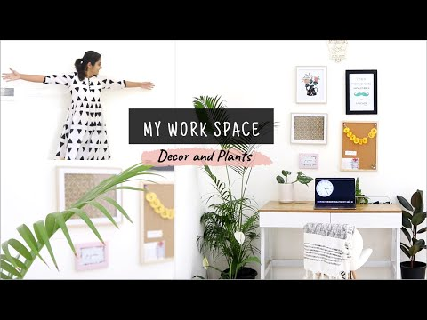 Setting up my work space: Decor & Plants