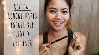 Review: Loreal Paris Infallible Super Slim Liquid Eyeliner Thumbnail