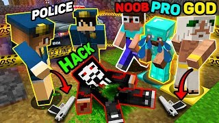 Minecraft - NOOB vs PRO vs HACKER vs GOD - MURDER INVESTIGATION OF A POLICE! part 2 in Minecraft
