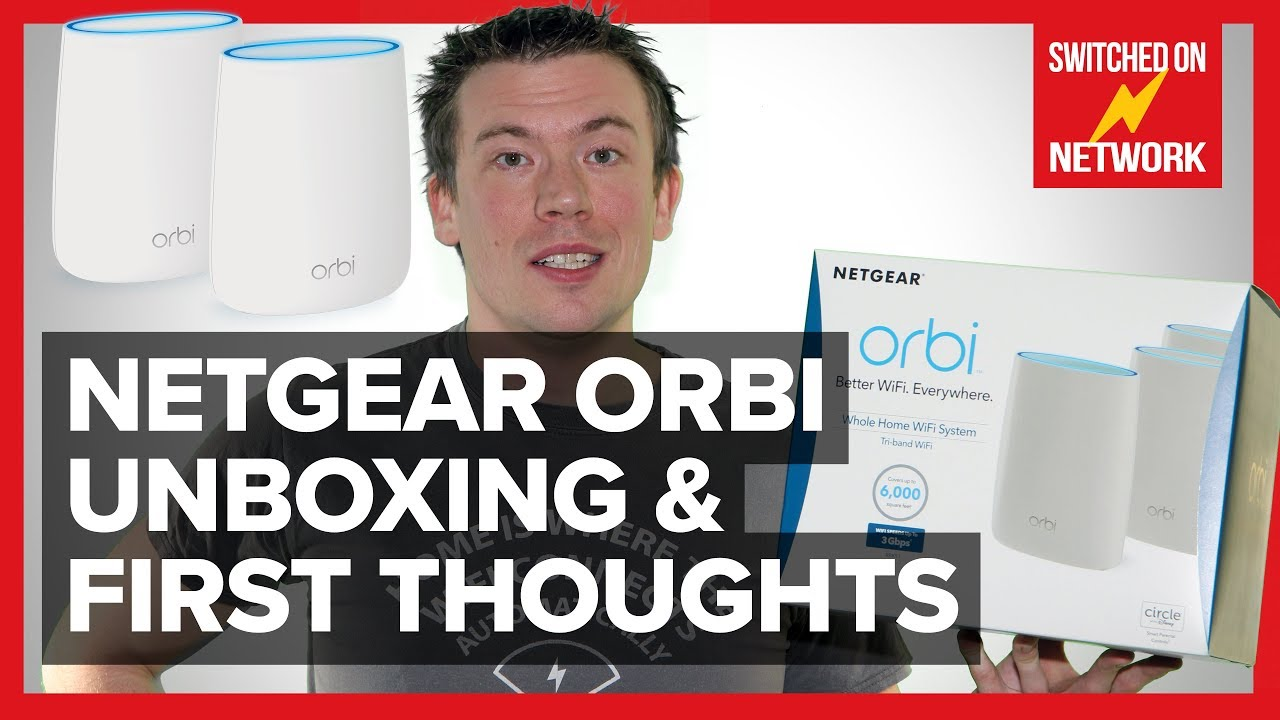 NETGEAR Orbi Unboxing & First Thoughts! - Whole-Home WiFi Mesh (RBK53)