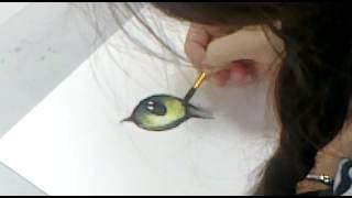 Как рисовать глаз кошки ( С мастер-класса по анималистике)