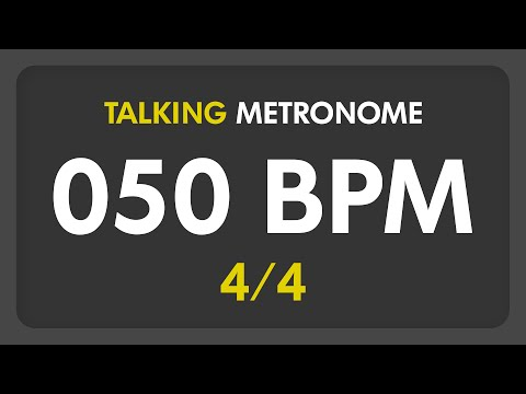 50 BPM - Talking Metronome (4/4)